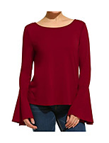cheap -Women's Street chic Cotton Loose T-shirt - Solid Colored