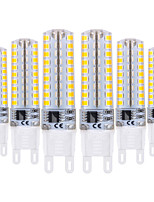 cheap -YWXLIGHT® 6pcs 5W 400-500 lm G9 LED Bi-pin Lights T 72 leds SMD 2835 Dimmable Warm White Cold White 220-240V
