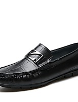 cheap -Men's Shoes Patent Leather Spring Fall Comfort Loafers & Slip-Ons for Casual Office & Career Black Camel