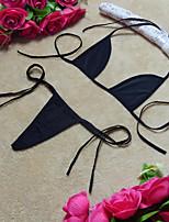 preiswerte -Damen Sexy BH & Höschen Sets Riemchen Dreieckiges Körbchen - Solide
