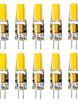 cheap -BRELONG® 10pcs 3W 800 lm G4 LED Bi-pin Lights 1 leds Warm White White