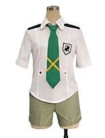 cheap -Inspired by Macross Frontier Cosplay Anime Cosplay Costumes Cosplay Suits Other Short Sleeves Shirt Waist Belt Tie Shorts For Men's