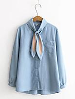 cheap -Women's Shirt - Solid V Neck