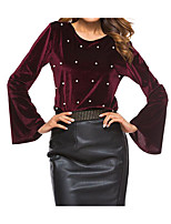 cheap -Women's Cotton Blouse - Polka Dot