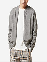 cheap -Men's Simple Long Sleeves Cardigan - Solid Color V Neck