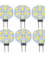 cheap -SENCART 6pcs 2 W LED Bi-pin Lights 360 lm G4 T 9 LED Beads SMD 5730 Decorative Warm White 12 V