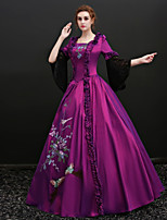 cheap -Fairytale Santa Suit Renaissance Costume Women's Dress Costume Masquerade Party Costume Outfits Purple Vintage Cosplay Polyster 3/4