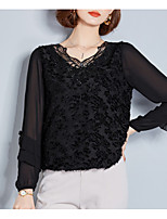 cheap -Women's Vintage Loose Blouse - Solid Colored Sweetheart