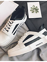 cheap -Men's Shoes PU Spring Fall Comfort Sneakers for Casual White Black
