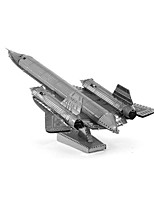 cheap -3D Puzzles Metal Puzzles Reconnaissance Aircraft Focus Toy Hand-made Metal 1pcs Standing Style Military Toy Kid's Adults' Girls' Boys'