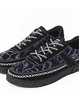 Недорогие -Муж. обувь Полотно Весна Осень Удобная обувь Кеды для Повседневные Черный Черный/Красный