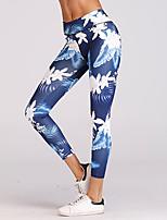 abordables -Femme Basique Sportif Legging - Fleur Couleur Pleine Taille médiale