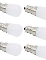 baratos -6pcs 2W 280-320 lm E14 E12 T 1 leds COB Decorativa Branco Quente Branco Frio 220-240V