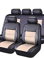 Недорогие -Чехлы на автокресла Чехлы для сидений Бежевый Черный/коричневый Черный/Красный Розовый Черный/Синий ПВХ Деловые Общий for Универсальный