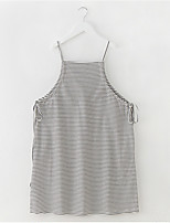 cheap -Girl's Daily Striped Dress, Polyester Spring Summer Sleeveless Simple Black