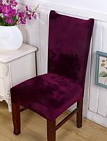 abordables -Moderne 100% Polyester Jacquard Housse de chaise, simple Couleur Pleine Impression pigmentaire Literie
