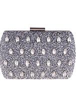 preiswerte -Damen Taschen Polyester Metall Abendtasche Knöpfe Kristall Verzierung für Hochzeit Veranstaltung / Fest Ganzjährig Blau Gold Silber