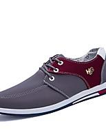 baratos -Homens sapatos Jeans Primavera Outono Conforto Tênis para Casual Escritório e Carreira Preto Cinzento Azul