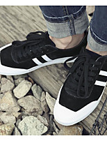 cheap -Men's Shoes Nubuck leather Spring Fall Comfort Sneakers for Casual Black Gray