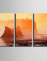 cheap -Hand-Painted Landscape Vertical, Modern Oil Painting Home Decoration Three Panels