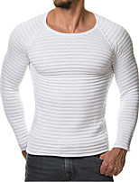 cheap -Men's Plus Size Sports Slim Pullover - Solid Colored Round Neck