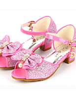 cheap -Girls' Shoes Sparkling Glitter Spring Summer Flower Girl Shoes Comfort Sandals Rhinestone Bowknot Pearl Buckle for Party & Evening Dress