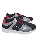 Недорогие -Муж. обувь Дерматин Зима Удобная обувь Кеды для Повседневные Черный Красный