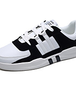 Недорогие -Муж. обувь Полиуретан Свиная кожа Весна Осень Удобная обувь Кеды для Повседневные Черный Серый Черно-белый Миндальный