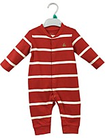 cheap -Baby Boys' Daily Striped One-Pieces, Cotton Spring Fall Casual Red