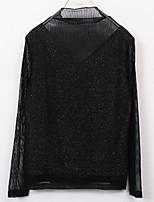 baratos -Mulheres Blusa Básico Gola Redonda