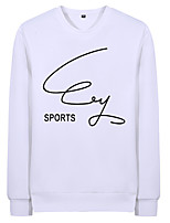 cheap -Men's Casual Sweatshirt - Letter