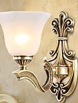 Недорогие -Антибликовая Деревенский стиль Настенные светильники Освещение ванной комнаты Назначение Гостиная Спальня Ванная комната Металл настенный