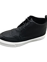 cheap -Men's Shoes PU Winter Comfort Sneakers for Casual Black Khaki