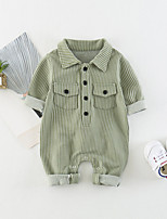 cheap -Baby Boys' Daily Striped One-Pieces, Cotton Spandex Spring Summer Simple Active Half Sleeves Blue Green Yellow