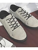 baratos -Homens sapatos Couro Ecológico Primavera Outono Conforto Tênis para Casual Preto Cinzento Escuro Cinzento Claro