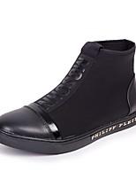 Недорогие -Муж. обувь Замша Весна Осень Удобная обувь Кеды для Повседневные на открытом воздухе Черный