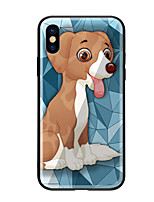voordelige -hoesje Voor Apple iPhone X iPhone 8 Patroon Achterkant Hond Hard Gehard glas voor iPhone X iPhone 8 Plus iPhone 8 iPhone 7 iPhone 6s Plus