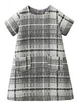 cheap -Girls' Basic Check Dress