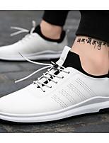 Недорогие -Муж. обувь Полиуретан Весна Осень Удобная обувь Кеды для Повседневные на открытом воздухе Белый Черный