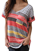 cheap -Women's Active Cotton T-shirt - Solid Colored