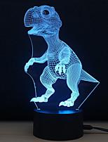 Недорогие -1 комплект 3D ночной свет Сенсорный 7-Color DC Powered Стресс и тревога помощи С портом USB Меняет цвета