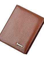 cheap -Men's Bags Cowhide Wallet Embossed for Casual Office & Career All Seasons Brown