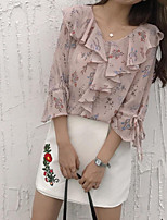 cheap -women's business rayon shirt - floral