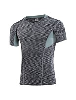cheap -Men's Running T-Shirt Short Sleeves Breathability T-shirt for Exercise & Fitness Polyester Black Green Blue Red/White Grey M L XL XXL XXXL