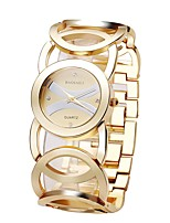 cheap -Women's Quartz Skeleton Watch Japanese Water Resistant / Water Proof Alloy Band Casual Silver Gold