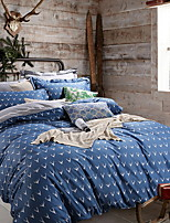 cheap -Duvet Cover Sets Geometric Pattern 3 Piece Poly/Cotton 100% Cotton Reactive Print Poly/Cotton 100% Cotton 1pc Duvet Cover 1pc Sham 1pc