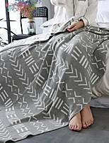 baratos -Tricotado, Jacquard Geométrica Algodão cobertores