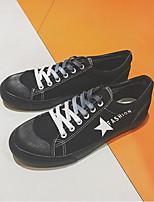 Недорогие -Муж. обувь Полотно Весна Осень Удобная обувь Кеды для Повседневные Белый Черный