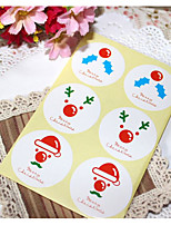 cheap -Holiday Stickers, Labels & Tags - 1 Christmas Circular Stickers All Seasons