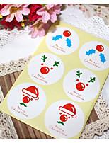 preiswerte -Urlaub Aufkleber, Etiketten und Schilder - 1 Weihnachten Kreisförmig Aufkleber Ganzjährig